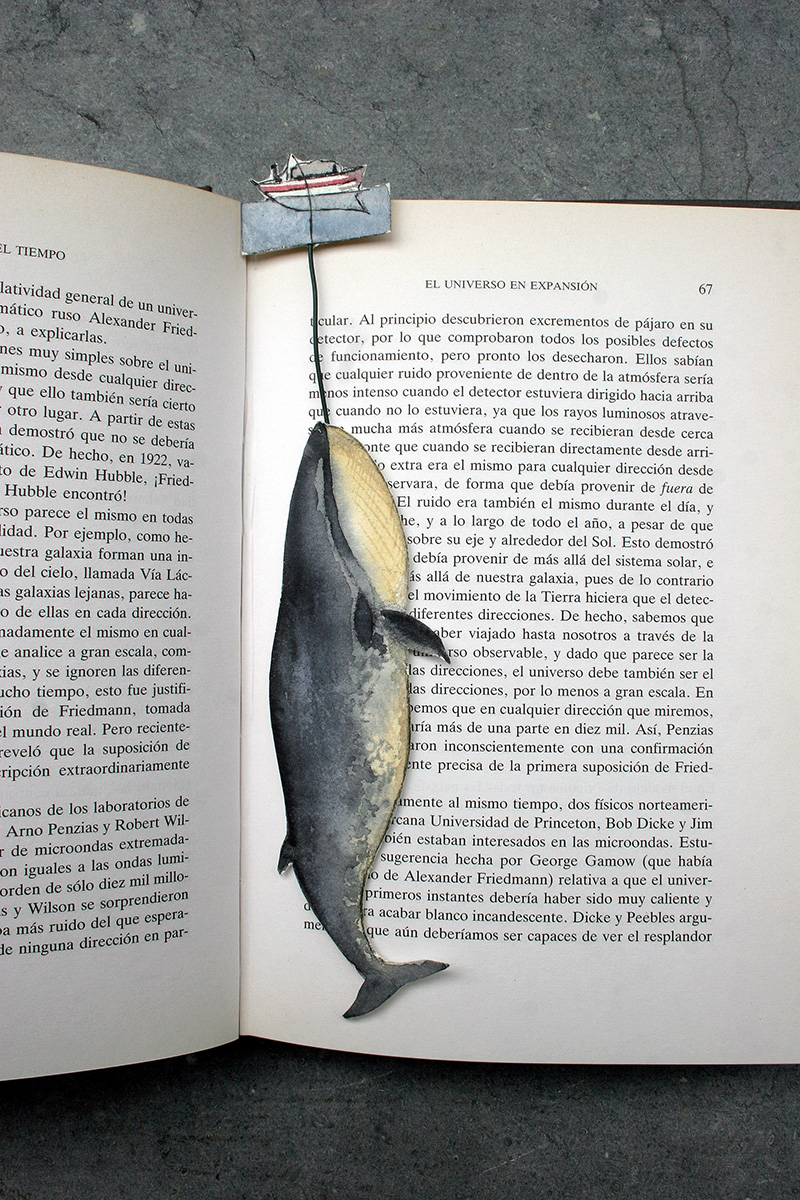 Watercolor bookmarks - Whale Point Book